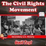 The Civil Rights Movement TEST - Common Core Aligned! Edit