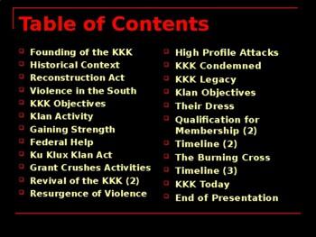 The Civil Rights Movement - The Ku Klux Klan
