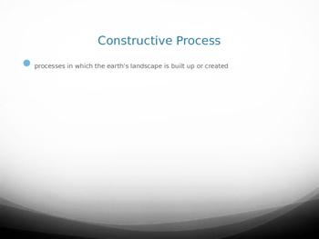 Constructive/Destructive Processes