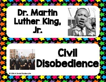 Civil Rights Movement Word Wall without definitions