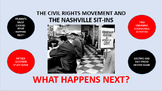 The Civil Rights Movement and the Nashville Sit-Ins:  What Happens Next?