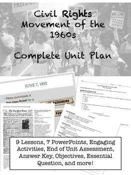 The Civil Rights Movement - 9 Lesson - No Prep - Unit Plan