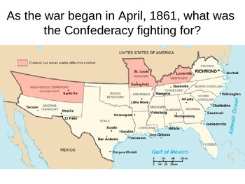 The Civil War: 1861-1862