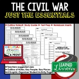 The Civil War, 1861-1865 Outline Notes JUST THE ESSENTIALS