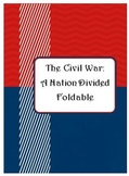 The Civil War - A Foldable