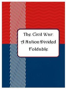 The Civil War - A Foldable