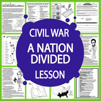Causes of the Civil War – Civil War Lesson + Civil War Writing Assignment