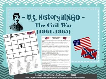 The Civil War BINGO (1861-1865)