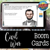 Civil War BOOM CARDS for Distance Learning