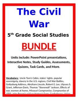 Civil War BUNDLE - 5th Social Studies