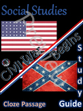 The Civil War Begins~Study Guide~Cloze Passage~Worksheet~5~Social Studies Weekly
