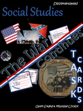 The War Continues~Task Cards~Social Studies~Worksheets/Cha