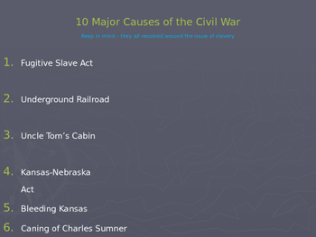 The Civil War - Chapter 9 - United States History: The Early Years