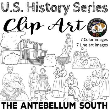 The Civil War Clip Art Set 1: The Antebellum South & Slavery