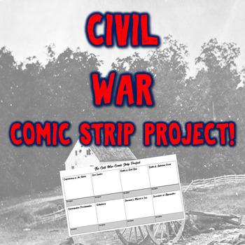 Civil War Comic Strip Project