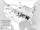 The Civil War: Compromises over Slavery Color-In Map for Worksheets or INBs