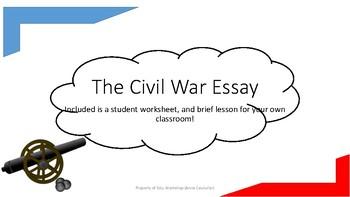 The Civil War Evidence Essay