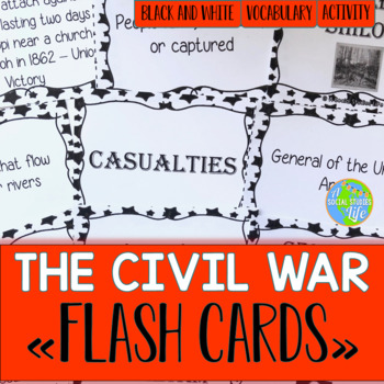 Civil War Flash Cards - Black and White