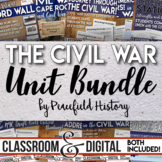The Civil War Full Unit Bundle Engaging Student Centered A