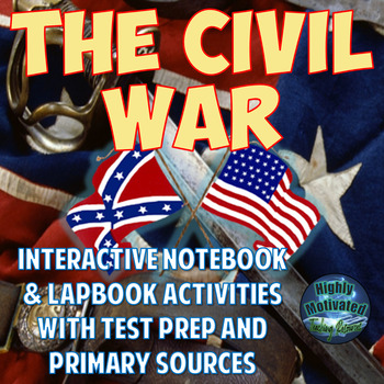 The Civil War Interactive Notebook Activities with Test Prep Passage Bundle
