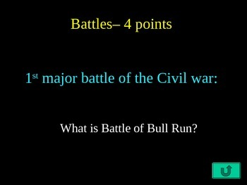 The Civil War Jeopardy Game Review