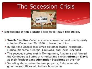 The Civil War PPT (APUSH: Period 5 1844-1877)