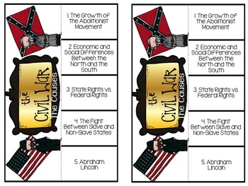 The Civil War Part 1: Causes  EDITABLE