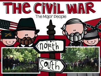 The Civil War Part 3: Major People EDITABLE