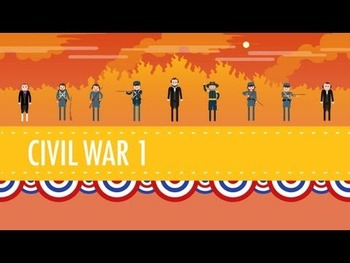 Viewing Guide- Crash Course US History #20 & 21: Civil War pt. 1 & 2