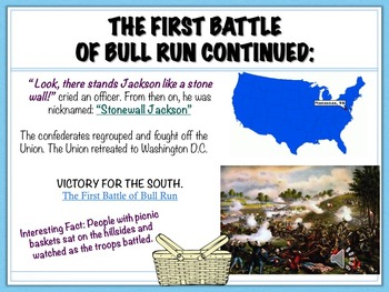 The Civil War Powerpoint- Battles, Generals, and More!