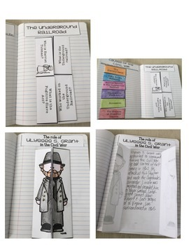 The Civil War & Reconstruction Interactive Notebook Activities