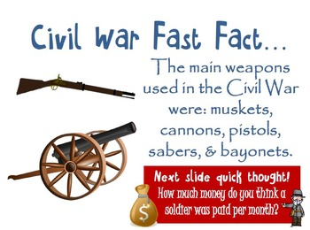 Civil War Interactive Slideshow Activity