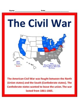 Civil War Study Guide - 5th Social Studies