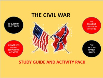 The Civil War: Study Guide and Activity Pack