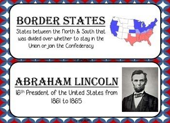 Civil War Word Wall