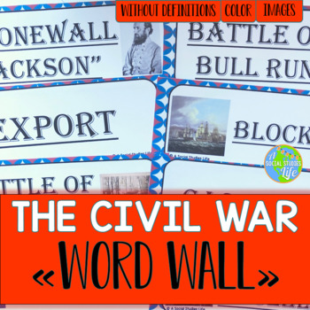 Civil War Word Wall without definitions