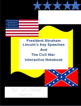 The Civil War and President Lincoln Interactive Notebook
