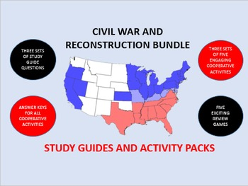 The Civil War and Reconstruction Bundle: Study Guides and Activity Packs