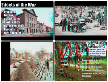 Civil War in 3D PowerPoint Lesson