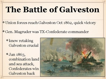 The Civil War in Texas Power Point or Gallery Walk