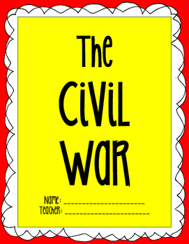 The Civil War printable notes packet