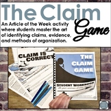 Identifying Claim Article of the Week Game and Activity fo