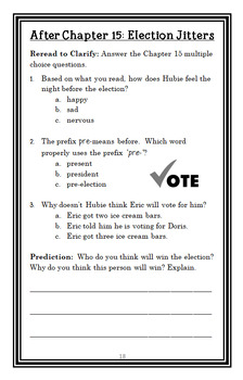 The Class Election from the Black Lagoon (Thaler) Novel Study / Comprehension