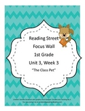The Class Pet Focus Wall Posters 1st Grade Reading Street CC 2013