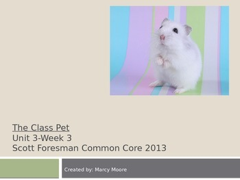 """""""The Class Pet"""" (Instructional Guide for Reading Street 2013)"""