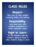 The Class Rules Poster That Rules!