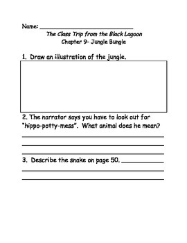 The Class Trip from the Black Lagoon comprehension questions