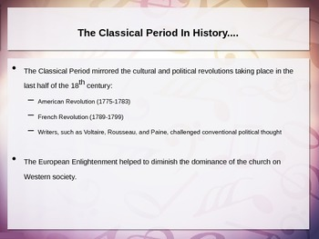 The Classical Period, Haydn, & Mozart Powerpoint