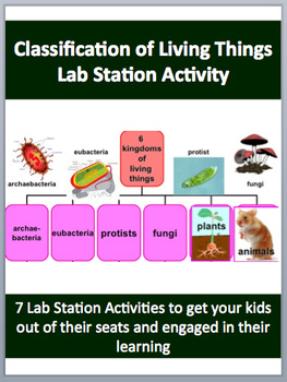The Classification of Living Things - 7 Engaging Lab Station Activities