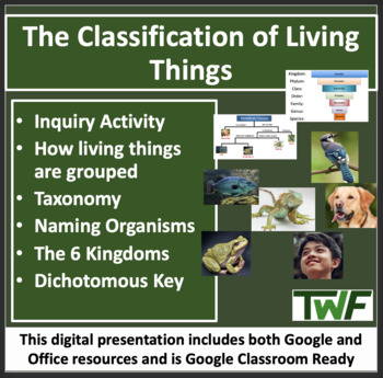The Classification of Living Things - Biology Lesson and Web Quest Package